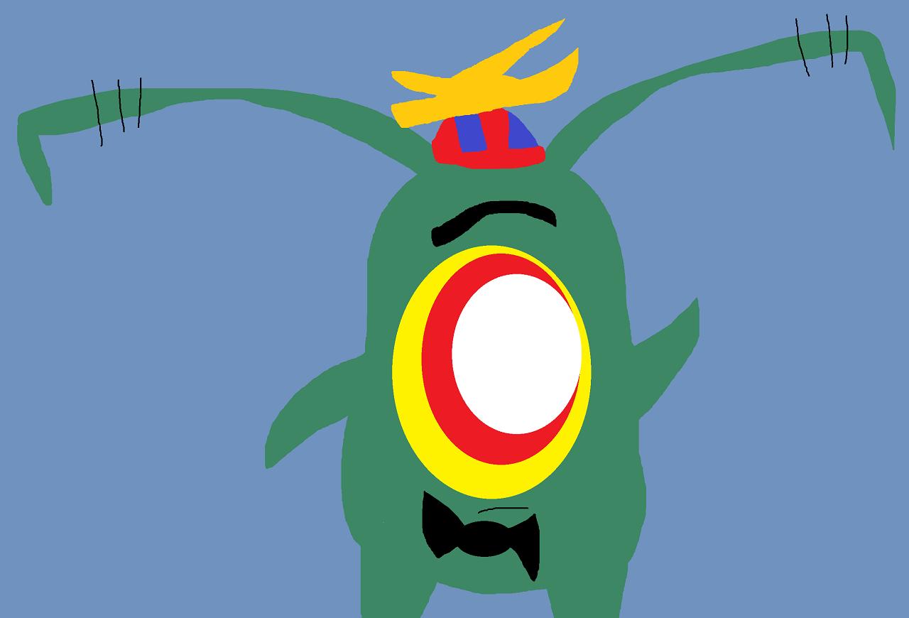 Plankton Cheeb In Propeller Hat by Falconlobo