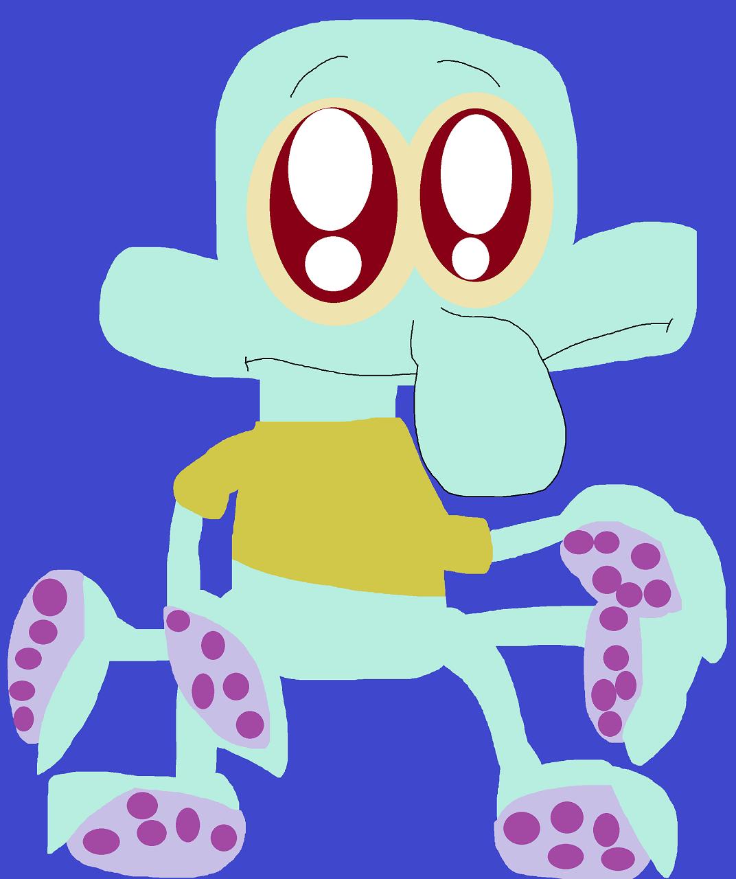 Random Adorable Eyed Squidward by Falconlobo
