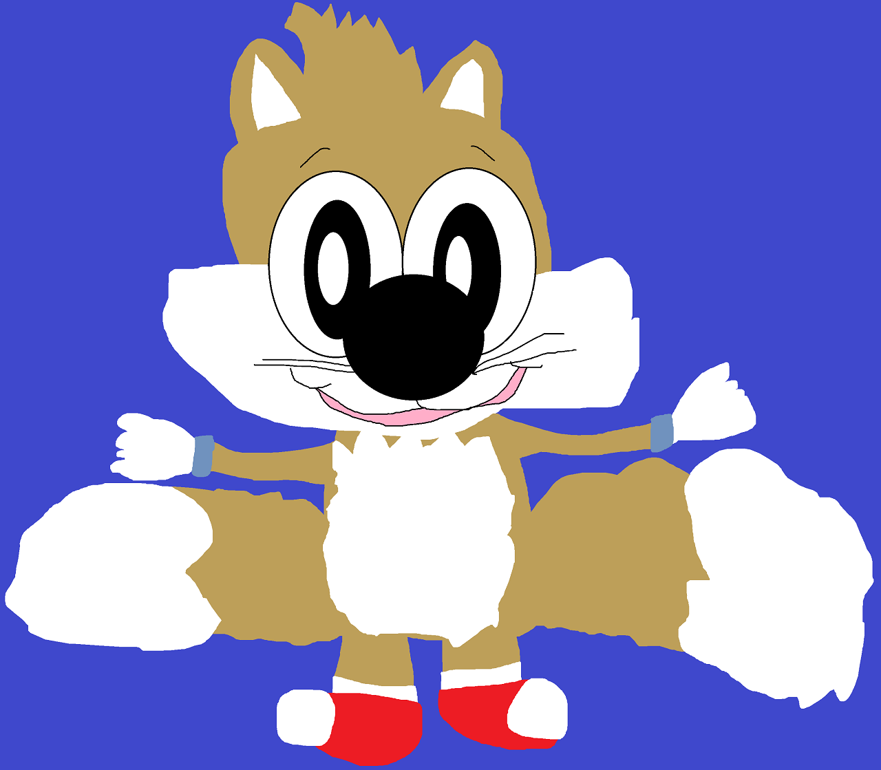 Tails Based On my 90's Plush by Falconlobo
