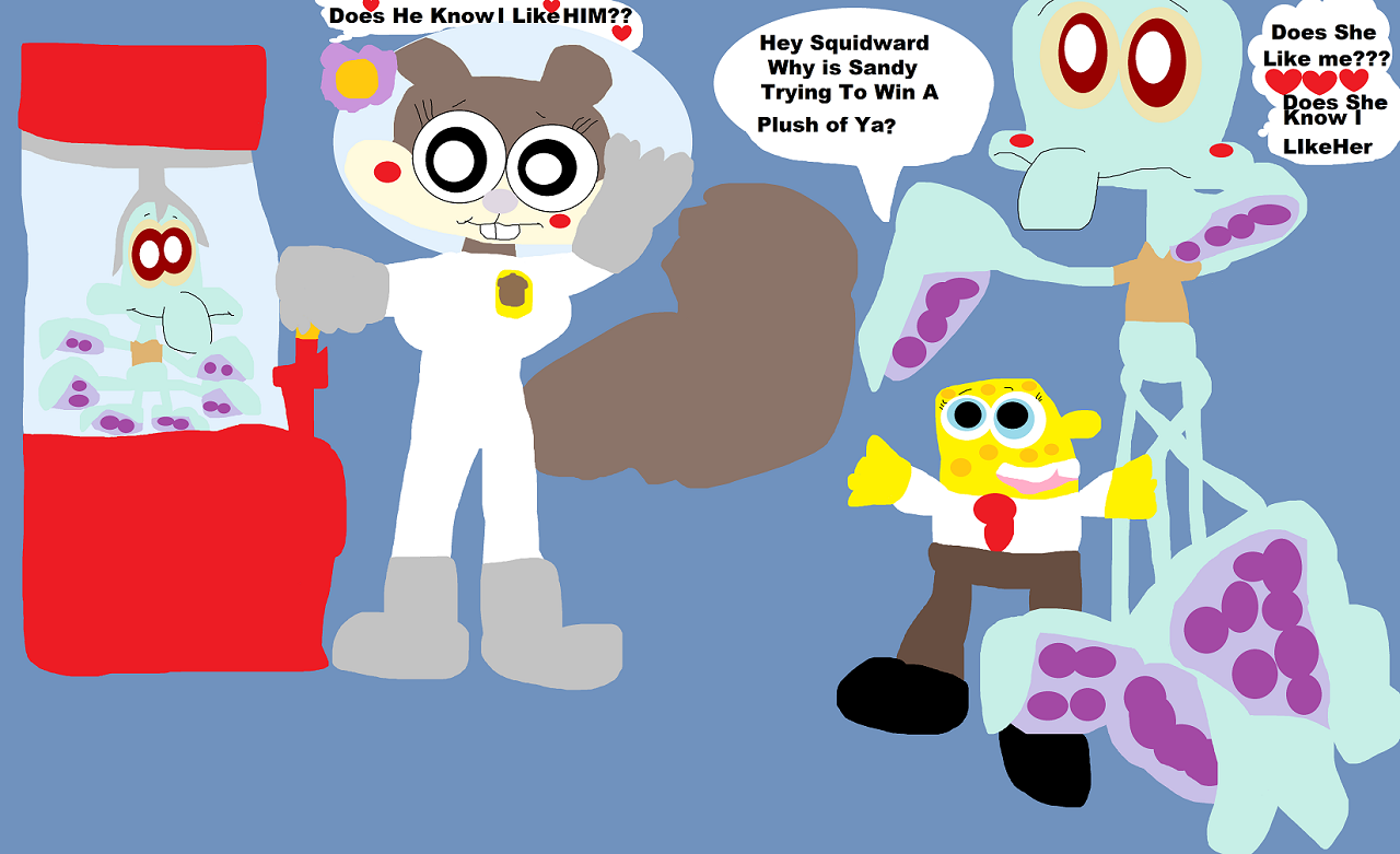 Hey Squidward Why Is Sandy Trying To Win A Plush Of Ya Small  Alt by Falconlobo