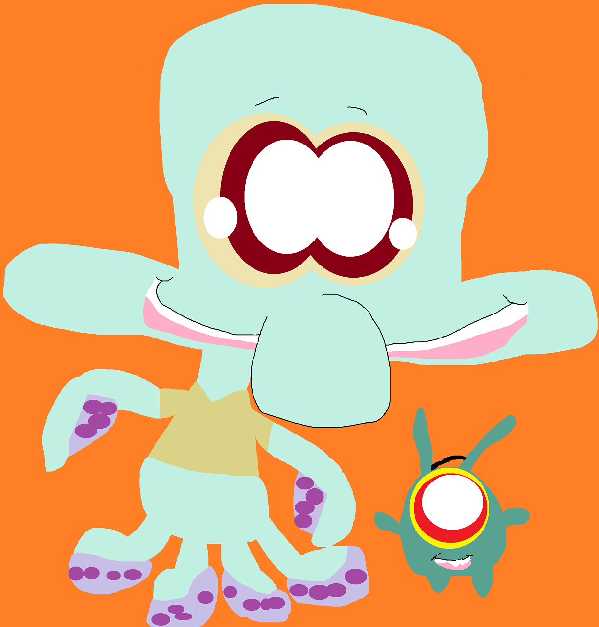A Squidward Plushie Cheeb A Little Bean Added by Falconlobo