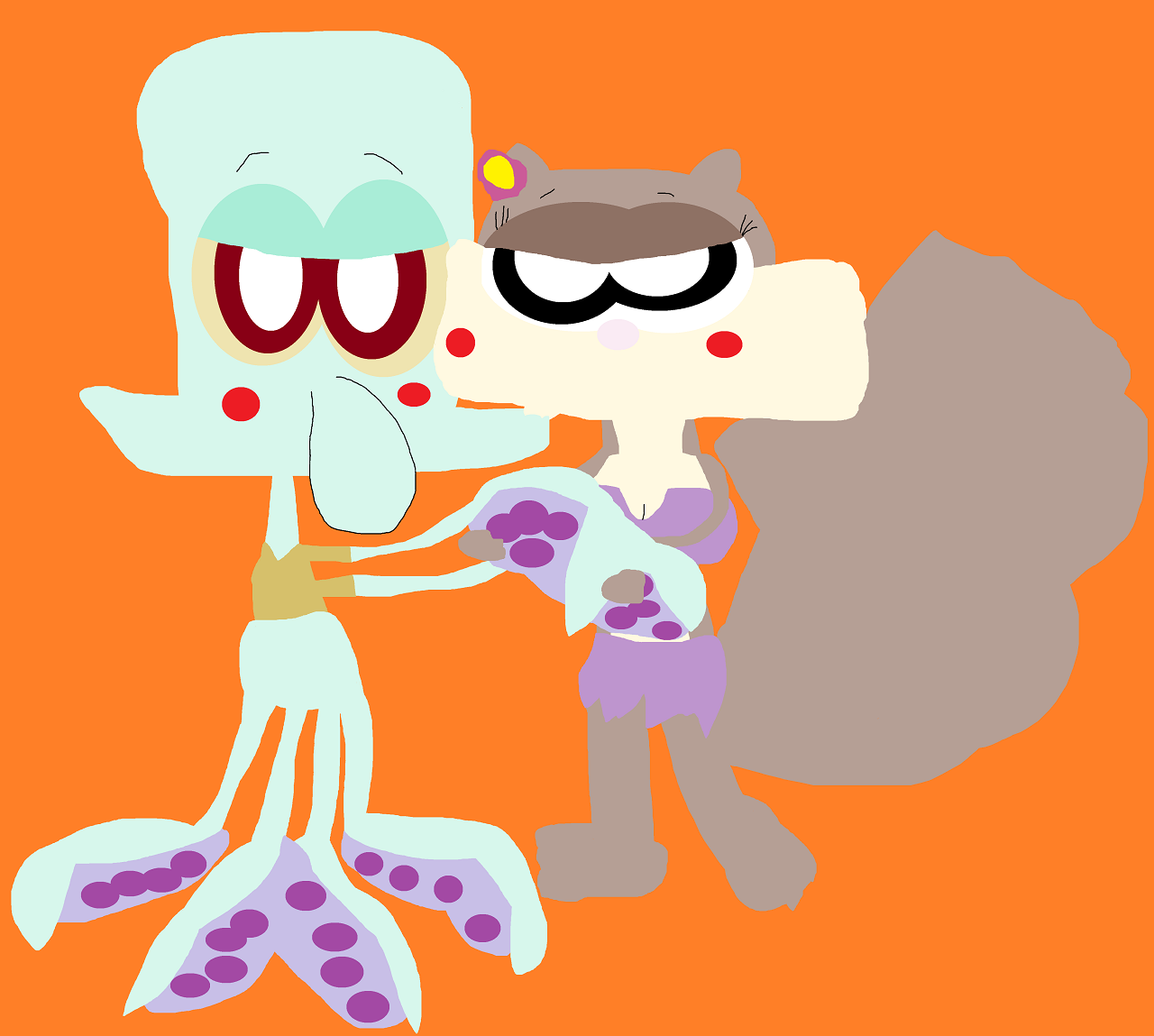 Just Squidward And Sandy Dancing Again Alt by Falconlobo