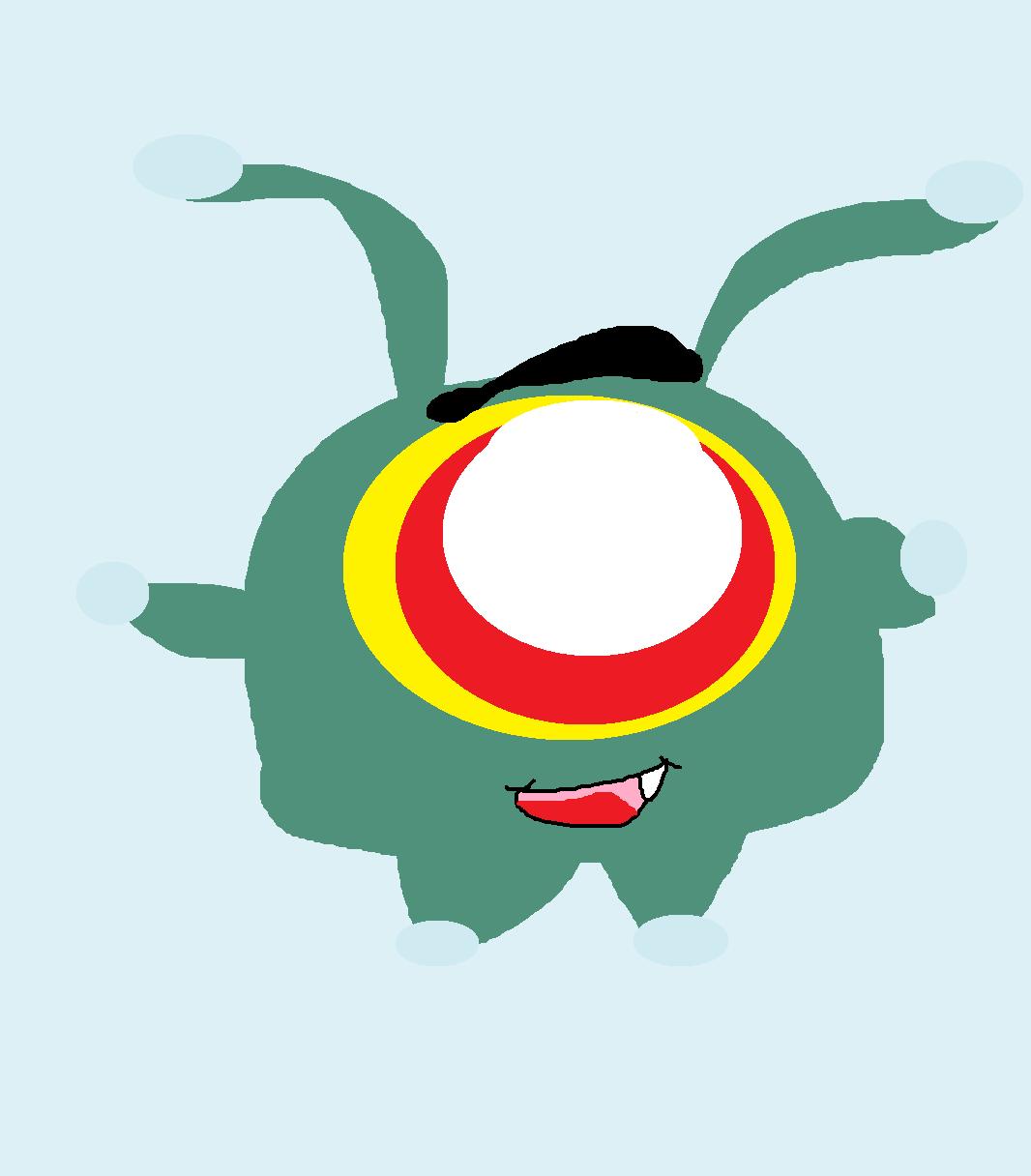 Plankton Chibi Cling Plush by Falconlobo
