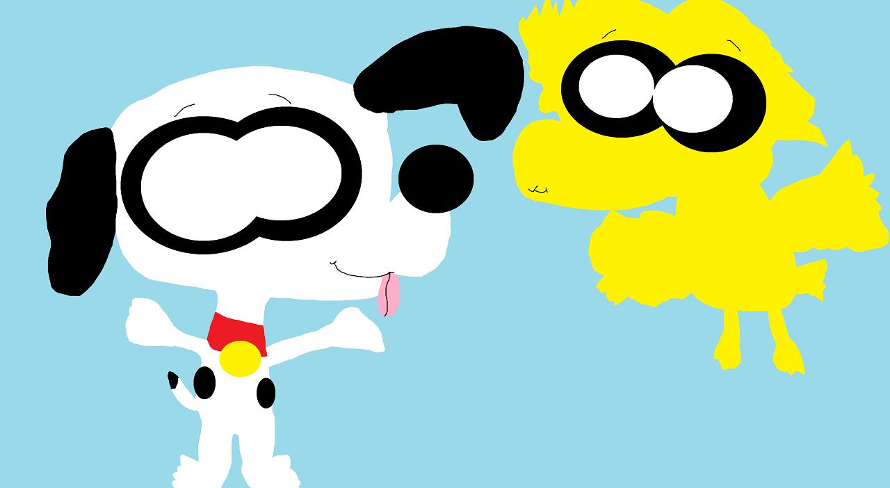 Snoopy And Woodstock Cheebs by Falconlobo