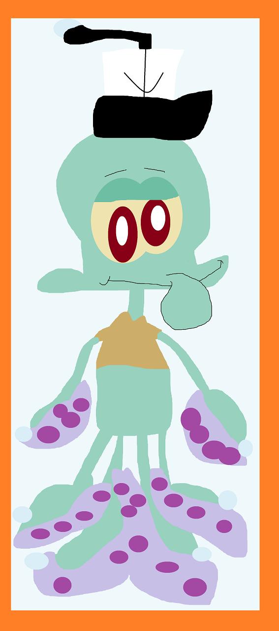 Squidward Cling Plushie by Falconlobo