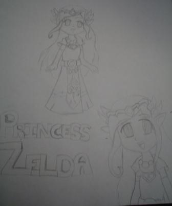 Princess Zelda From The Minish Cap Manga by FallingRaindrops