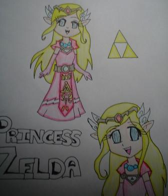Princess Zelda From The Minish Cap Manga *Coloured* by FallingRaindrops