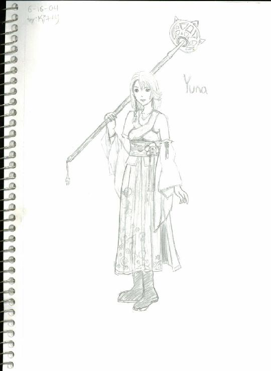 Yuna ~Final Fantasy X~ by FighterMisao