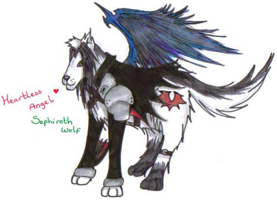 Sephiroth wolfy by Finalkingdomheartsfantasy