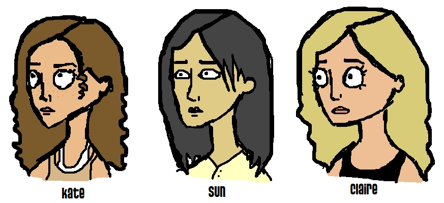 Kate, Sun and Claire by Finite