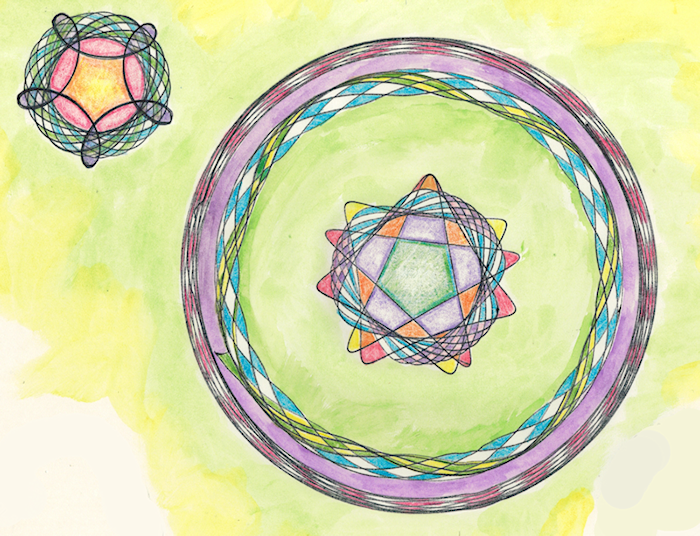 Spirograph Stained Glass by Firiel