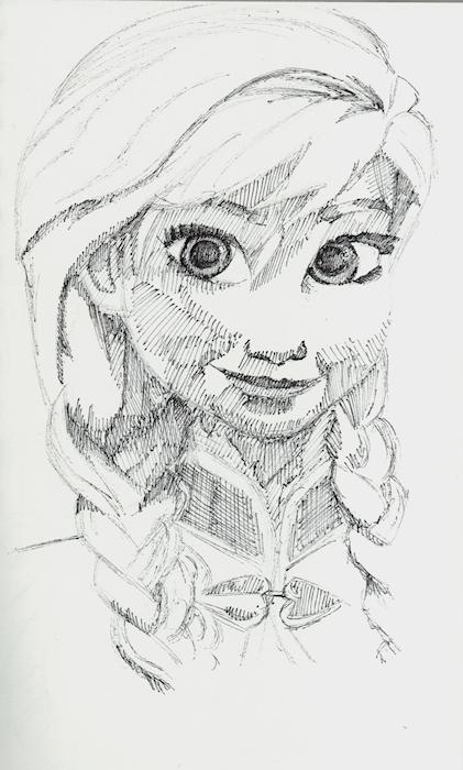 Princess Anna (B&W) by Firiel