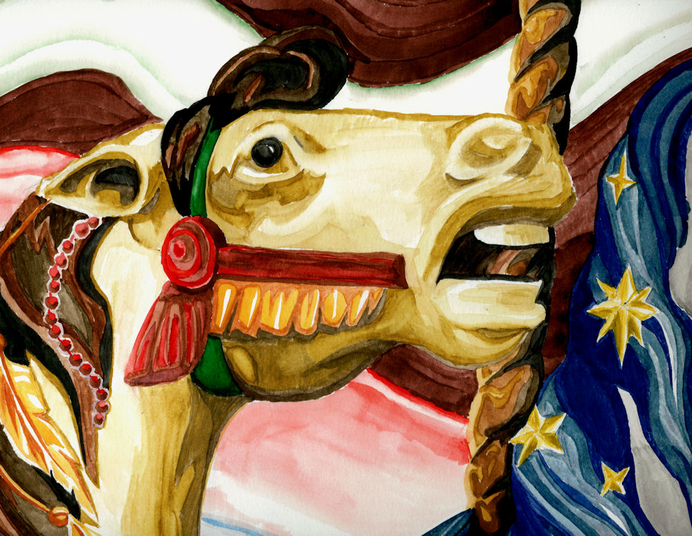 Carousel Horses - Detail by Firiel