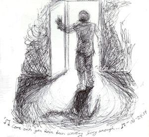 lit door by Firiel