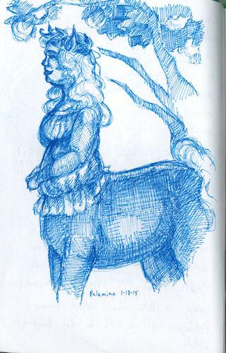 palamino centaur lass by Firiel