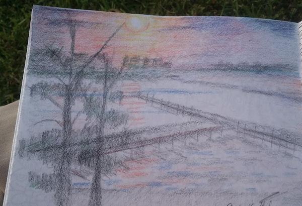 sunset sketch by Firiel