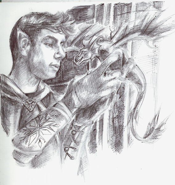 tall elf small dragon by Firiel
