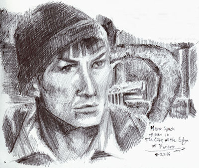 Spock On The Edge Of Forever by Firiel