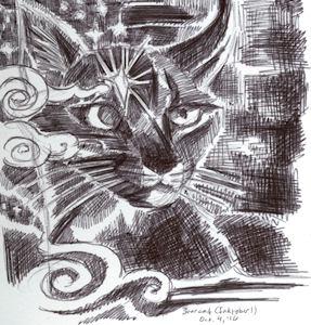 inktober starcat by Firiel