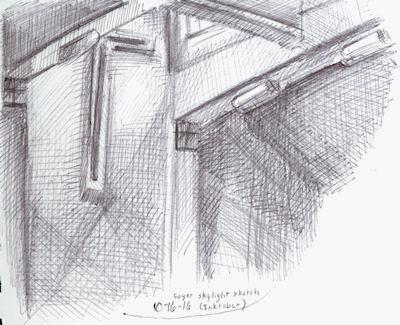 inktober12 - skylight by Firiel