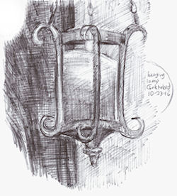 Inktober19 - hanging lamp by Firiel