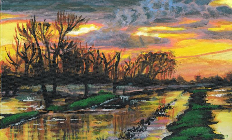 sunset on the fen by Firiel