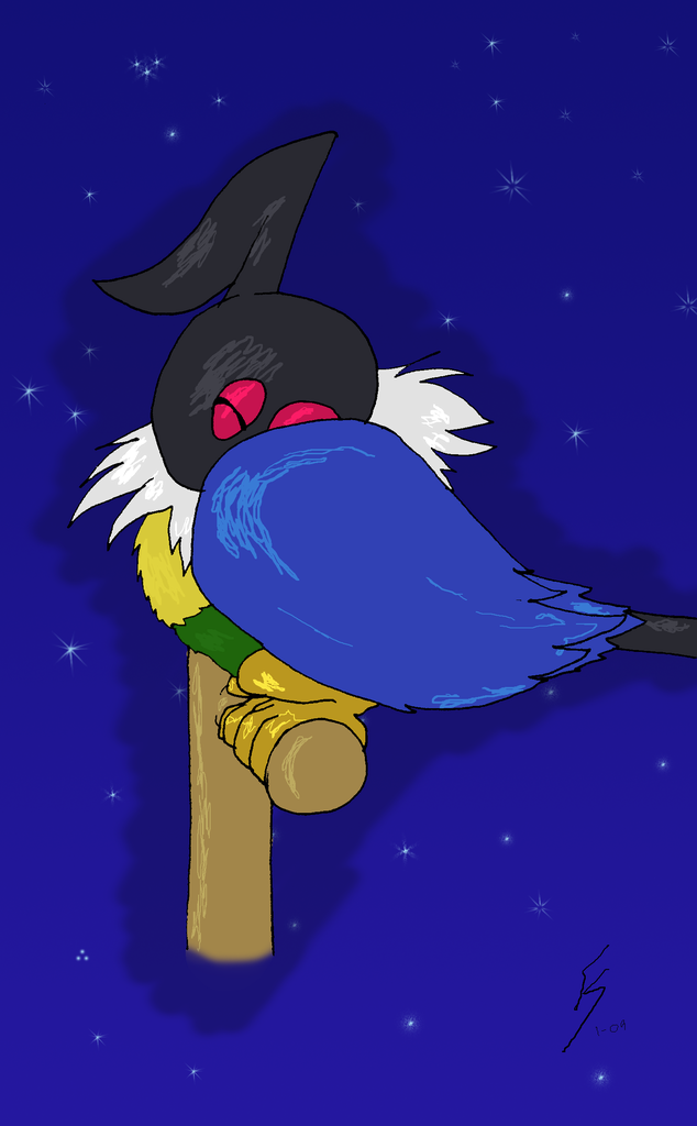 Sleep Soundly, Dear Chatot by FlameShadow