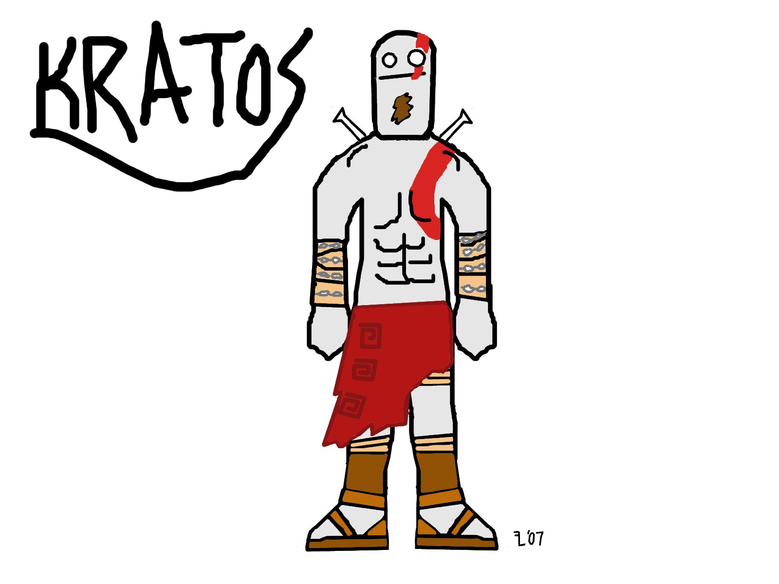 Kratos is cool by FlatterLR