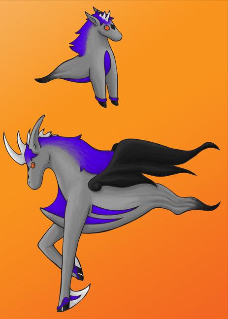 Night Horse Fakemon by Floweronthemoon