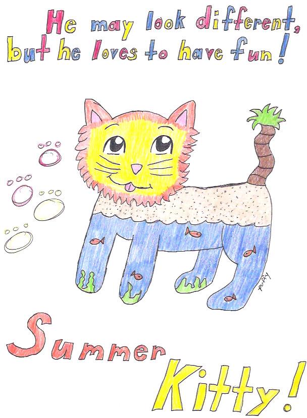 Summer Cat *request 4 kittykatkrazy* by FluffyPuff12345