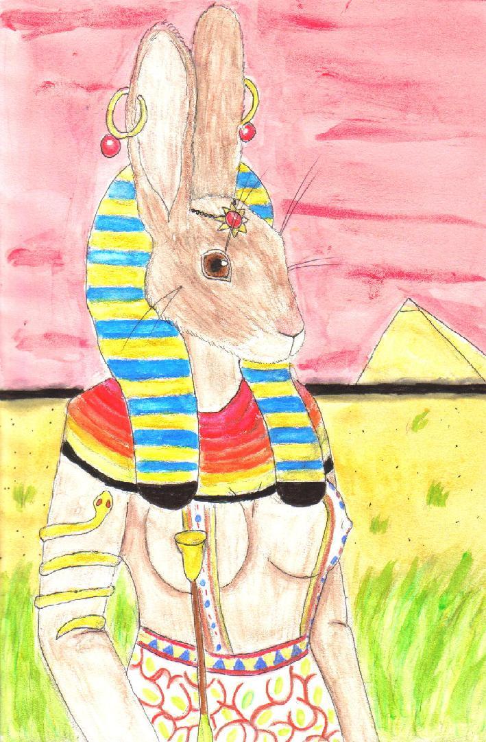 FB'sThe hare headed goddess:Unut by Fluffybunny