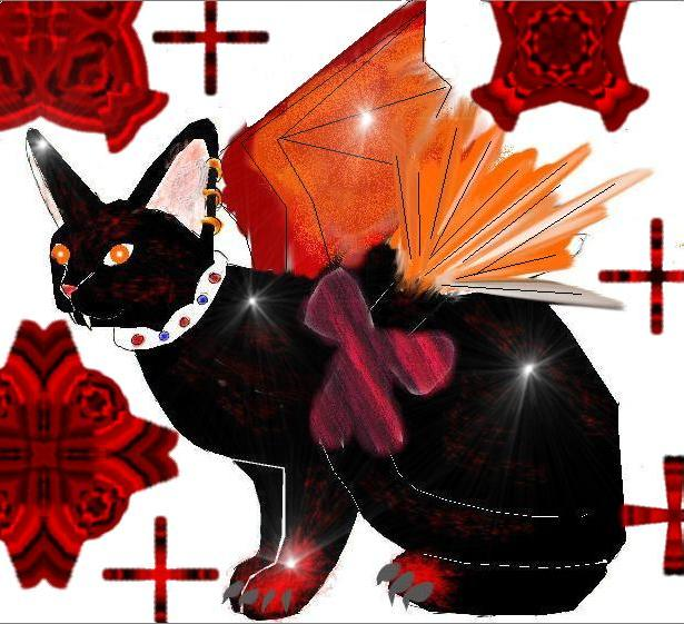 Shinda: kitty for sliver flame by Fluffybunny