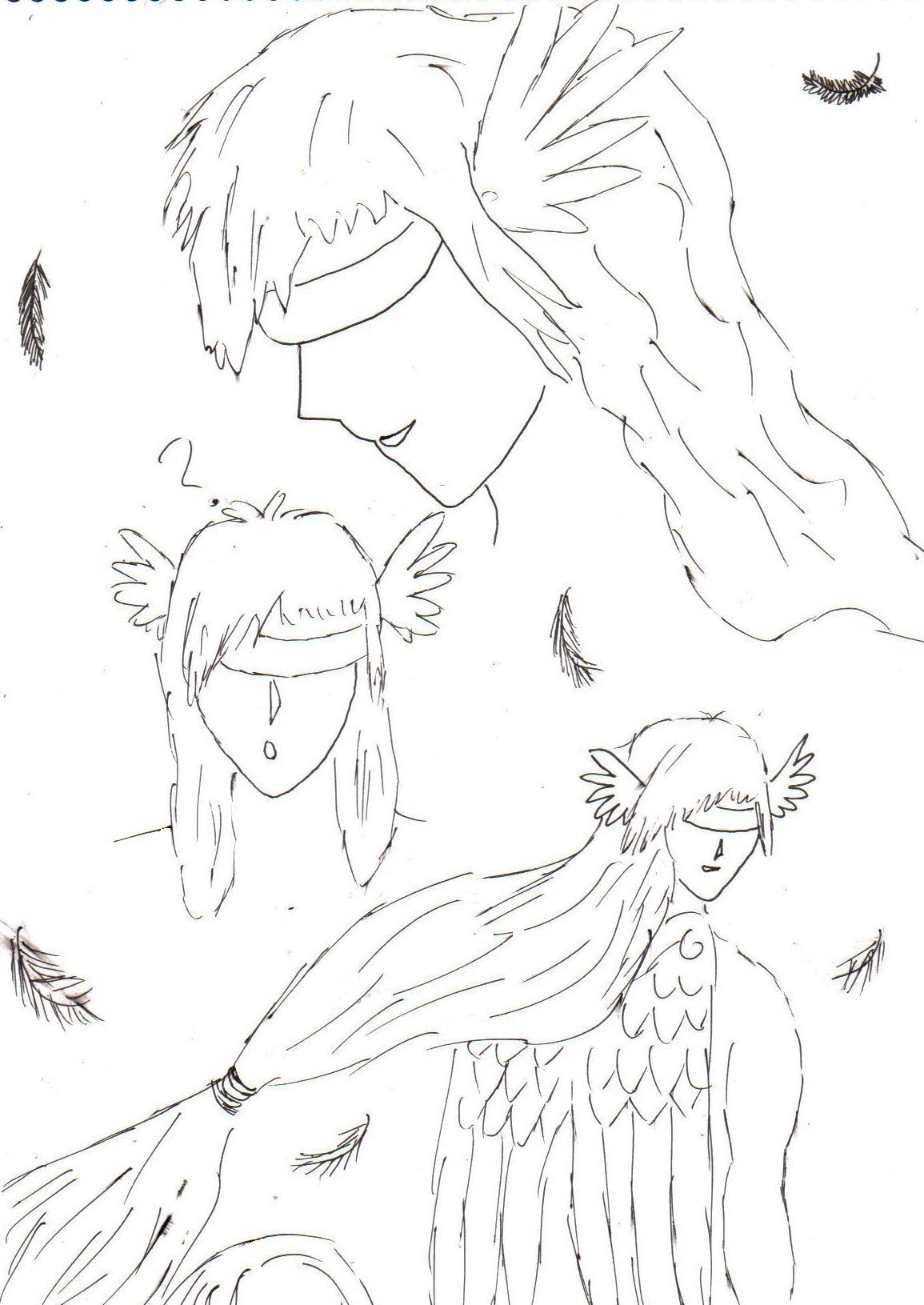 FB's Aquila:angel form by Fluffybunny