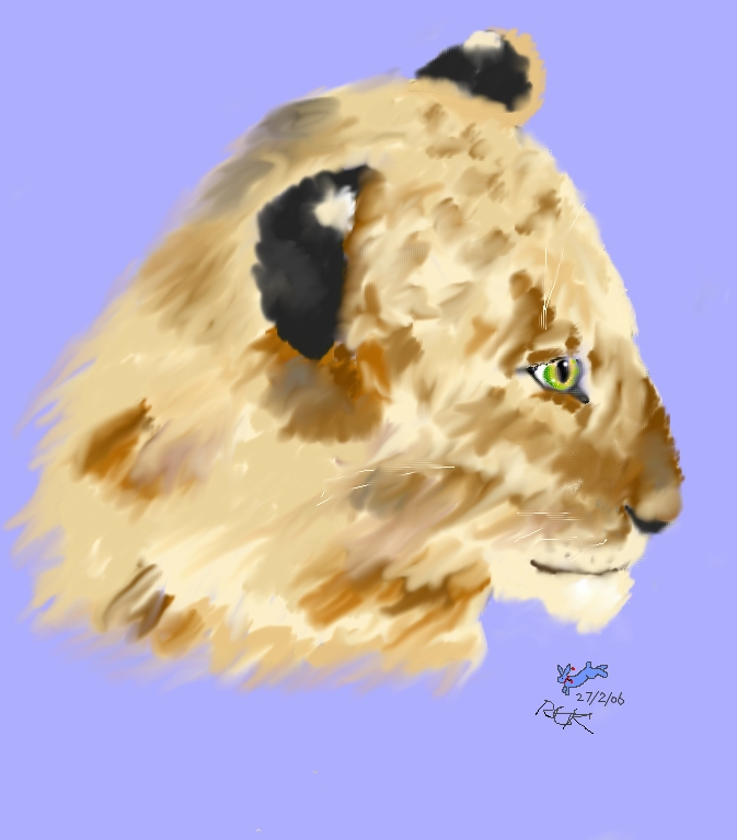 FB's pale lioness cub:my 100 pic! by Fluffybunny
