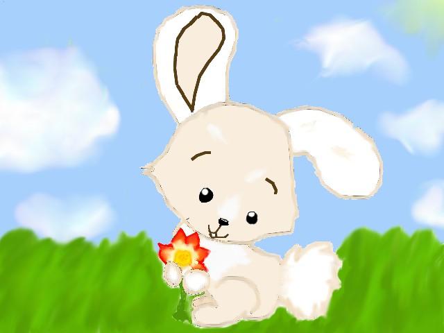 the joyful bunny: coloured! by Fluffybunny