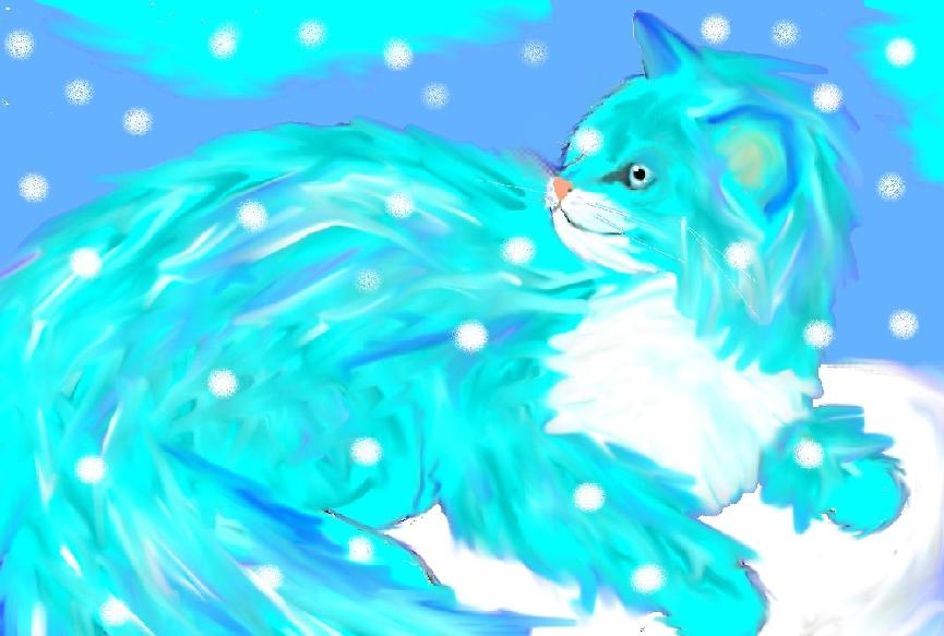 Ice kitty for  Jozie-Chan by Fluffybunny