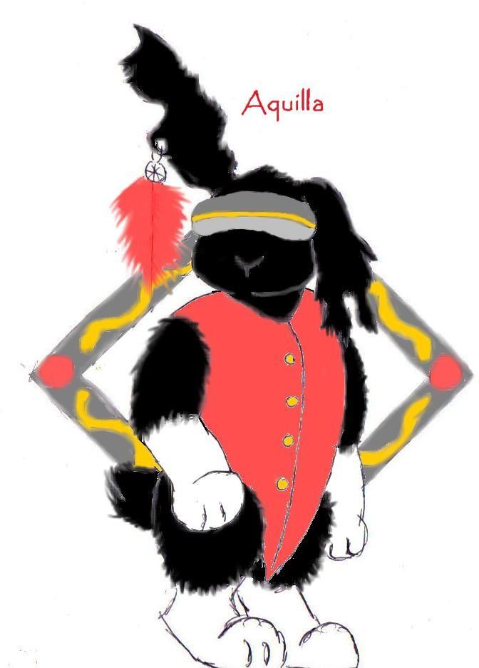 aquilla posing by Fluffybunny