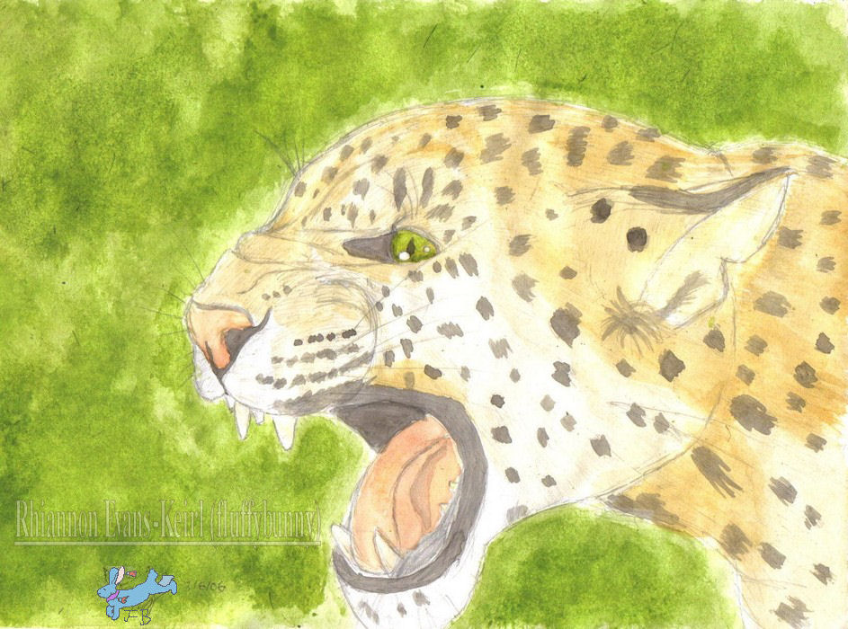 leopard (watercolour) by Fluffybunny