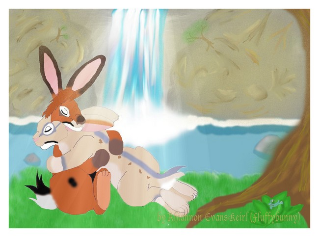 Love by the waterfall by Fluffybunny