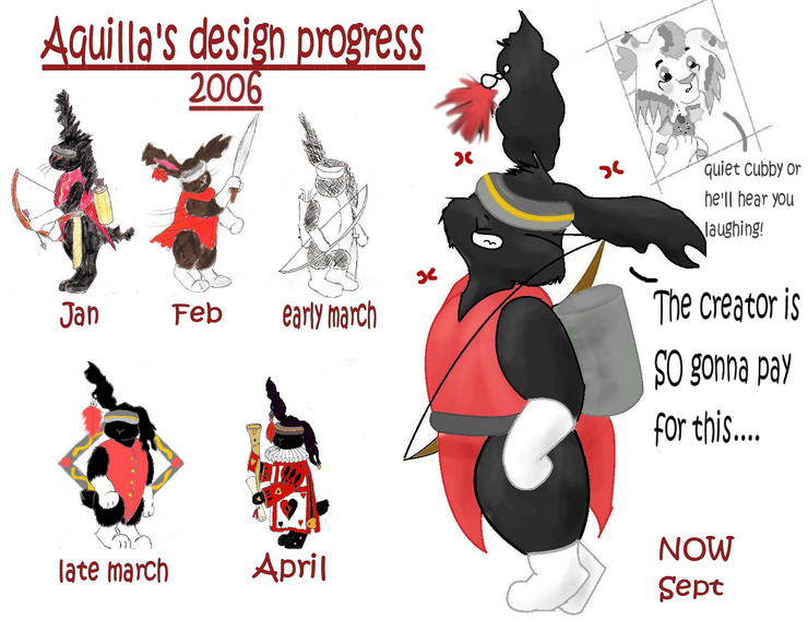 Aquilla's design progress by Fluffybunny