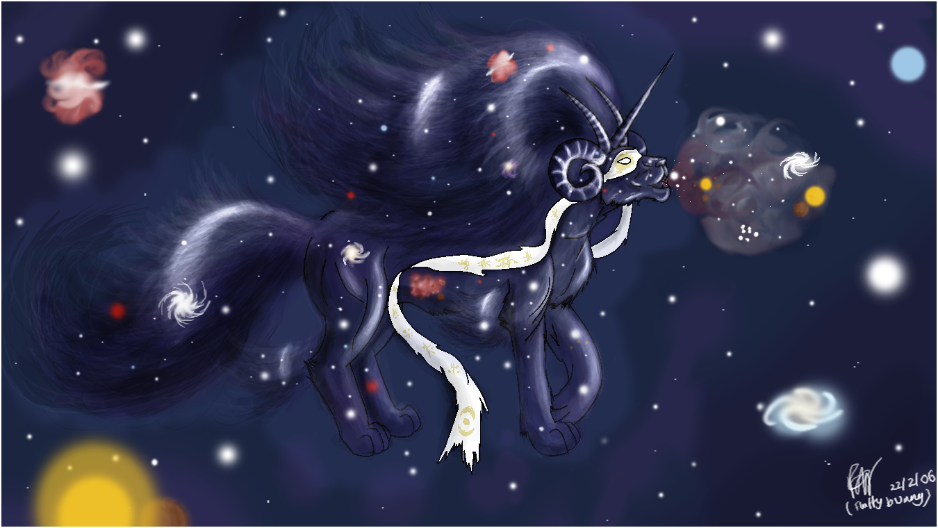 Creator in the stars by Fluffybunny
