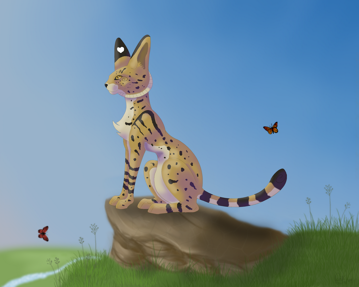 The Serval by Fluffybunny
