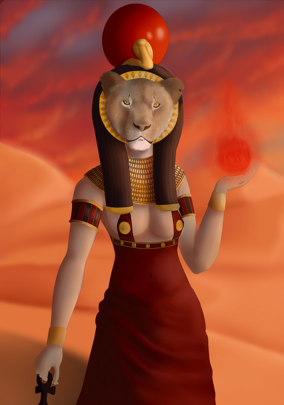 The Lady of Slaughter: Sekhmet by Fluffybunny