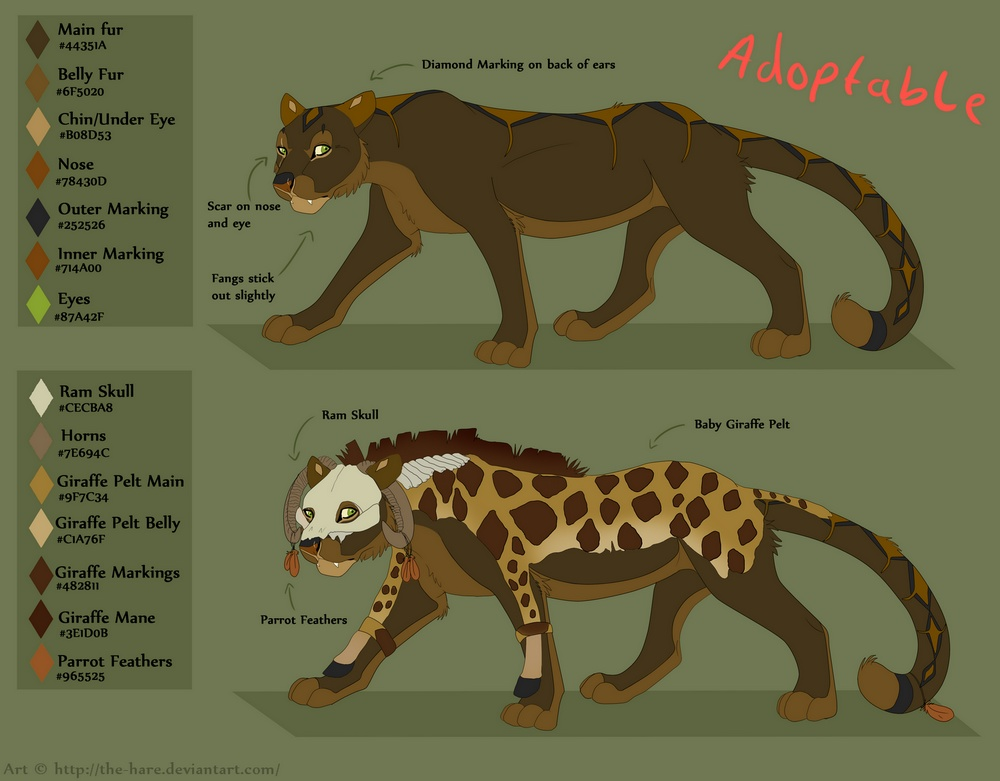 Feline Adoptable -Comes with Reference Sheet- by Fluffybunny
