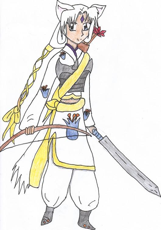Yukiko (colored) by FluffysPrincess2968