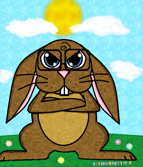 Angry Bunny by Flyinmonkey1010