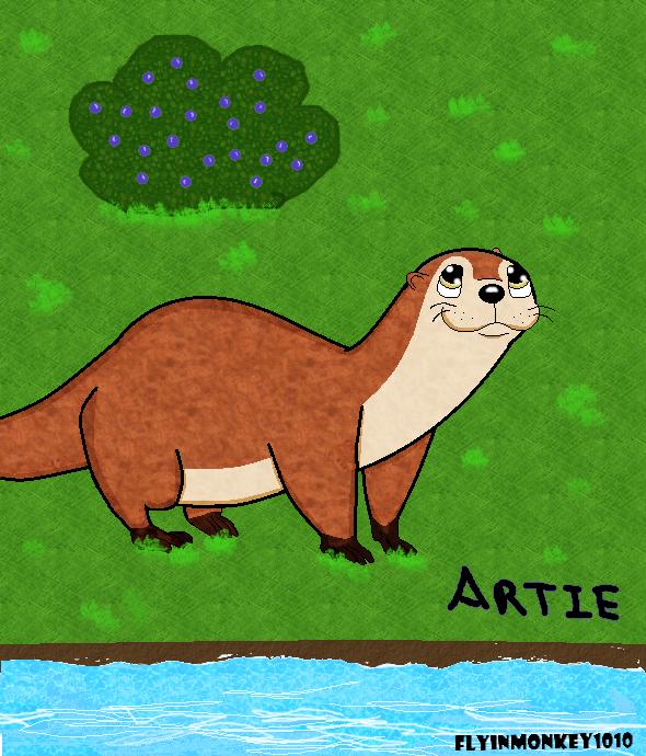 Artie the Otter by Flyinmonkey1010