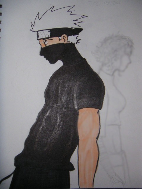 Kakashi being a sexy badass by Fogwa