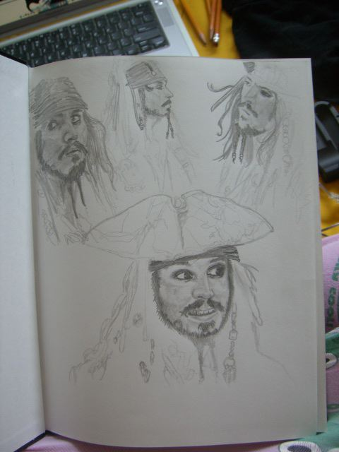capt. sparrow sketches by Fogwa