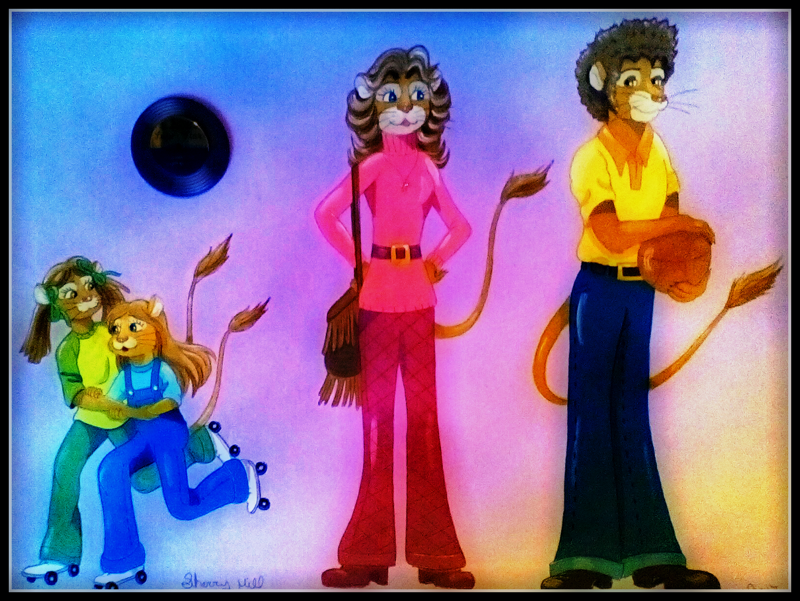 1970's Lion Family by FoxyFlapper